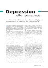 Depression efter hjerneskade - Elbo