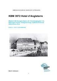KBM 3972 Hotel d'Angleterre - Københavns Museum