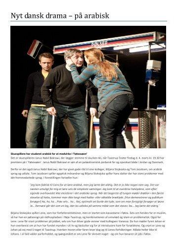 Nyt dansk drama – på arabisk - Taastrup Teater