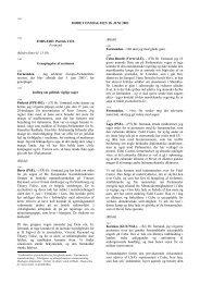 MØDET ONSDAG DEN 18. JUNI 2003 - Europa