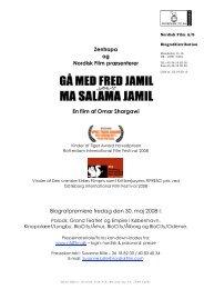 Zentropa og Nordisk Film præsenterer En film af Omar Shargawi ...