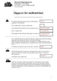 Opgaver for mellemtrinet - WebKontrol V.5   Bakuri A/S