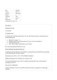Introduktion Modulernes forløb 1. Kort Intro 2. Bogudlevering 3 ...