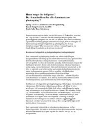 Hans Kristensens oplæg - Center for Bolig og Velfærd