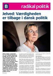 Jelved: Værdigheden er tilbage i dansk politik - Radikale Venstre