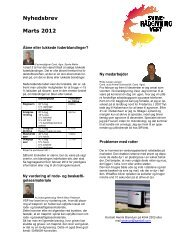Nyhedsbrev Marts 2012 - Svinerådgivning Vest