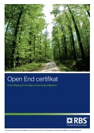 Open End Certifikat - RBS