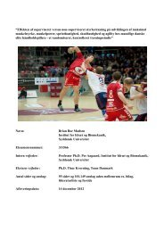 Kandidat Speciale: Brian Boe Madsen - Fysiologiske test