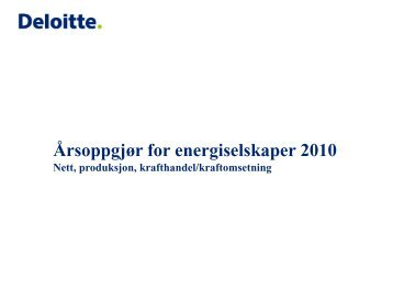 Utvalgte emner – Varige driftsmidler - Energi Norge