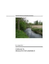 Forslaget til regulativet kan ses HER - Fredensborg Kommune