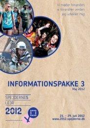 INFORMATIONSPAKKE 3 - Spejdernes Lejr 2012