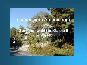 Klasse 6 - am Gymnasium Antonianum