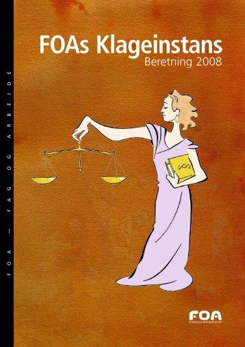 FOAs Klageinstans - Beretning 2008