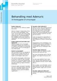 Behandling med Adenuric - EPIS - Gentofte Hospital