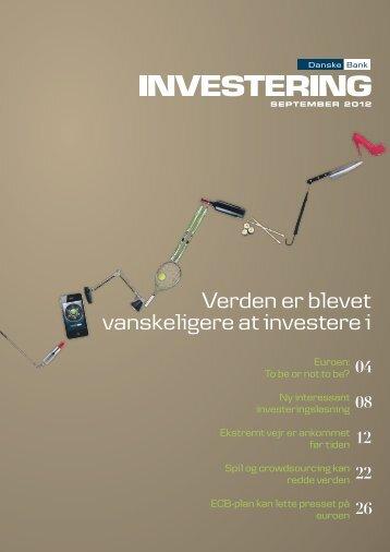Verden er blevet vanskeligere at investere i - Danske Bank