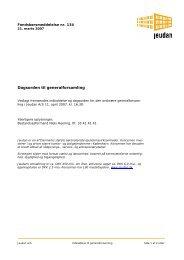 Dagsorden til generalforsamling - Jeudan A/S