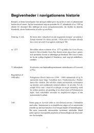 Begivenheder i navigationens historie - Vestergaards Matematik Sider