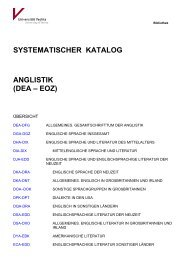 Systematik Anglistik - Universität Vechta
