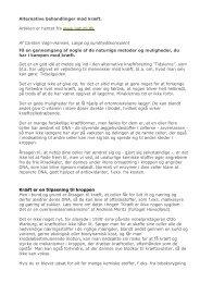 Alternative behandlinger mod kræft. Artiklen er hentet fra www ...