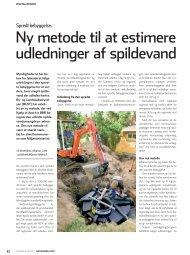 Ny metode til at estimere udledninger af spildevand - KTC