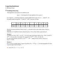 Logaritmefunktioner