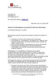 Dansk Aktionærforening om bekendtgørelse om god skik