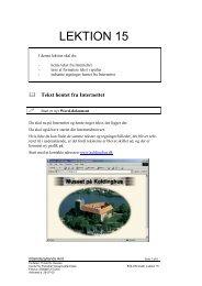 Tekst hentet fra Internettet - Horsens HF og VUC