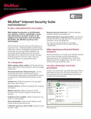 McAfee® Internet Security Suite med SiteAdvisor