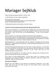 Referat fra Generalforsmaling kan læses her - Mariager Sejlklub