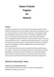 Selam Friskole Fagplan for Historie