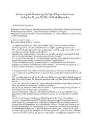 Referat af generalforsamling i Refugiet Klitgaardens Venner fredag ...