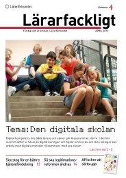 Lärarfackligt nr 4 | 2013 - Lärarförbundet