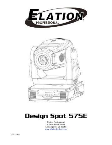 Design Spot 300E DMX Traits (pdf)