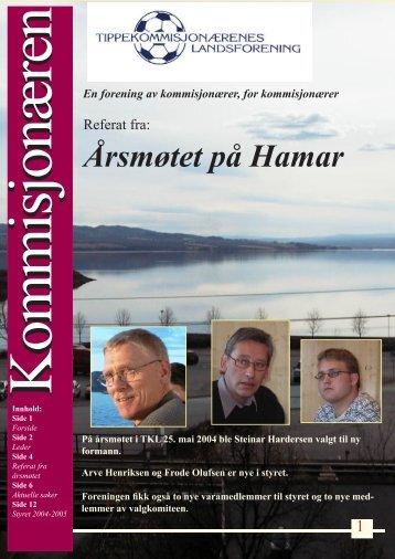 Referat fra årsmøtet 2004.indd - Norsk Tipping får 200.000 kroner i bot