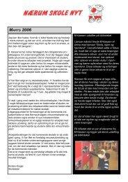 MARTS 2006 M-klassen udstiller på biblioteket I ... - Nærum Skole