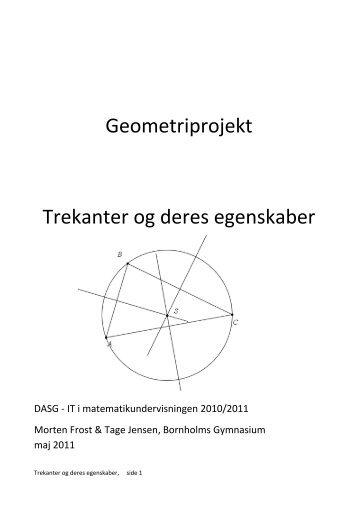 Geometriprojekt Trekanter og deres egenskaber - Emu