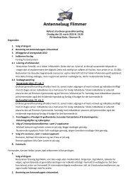 Referat fra generalforsamling 2013 (pdf-fil) - Antennelaug Flimmer i ...
