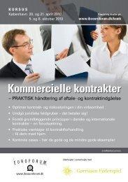 Kommercielle kontrakter - IBC Euroforum