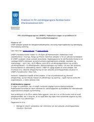 Praktikant til FN's Udviklingsprograms Nordiske Kontor ...