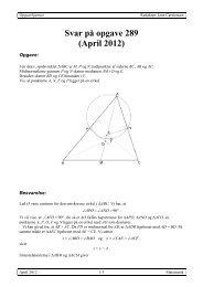 Svar på opgave 289 (April 2012) - Uvmat
