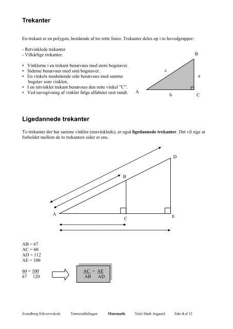 Trigonometri - Svendborg Erhvervsskole
