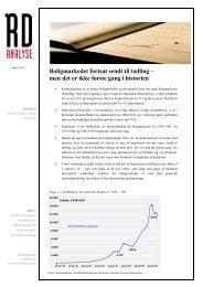 Læs RDs analyse om huspriserne(pdf) - Realkredit Danmark