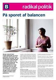 På sporet af balancen - Radikale Venstre