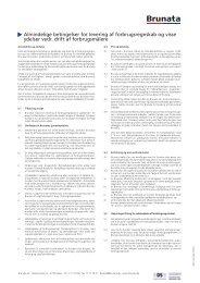 Almindelige betingelser for levering af forbrugsregnskab ... - Brunata