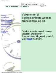 Teknologi og tid - Teknologirådet