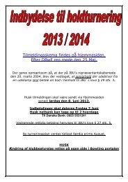 Invitation til holdturneringen 2013 14 - Jydsk Bowling Union