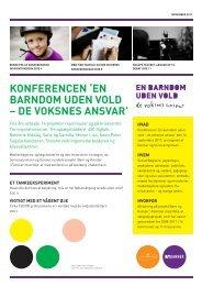 konferencen 'en barndom uden vold – de voksnes ... - Servicestyrelsen