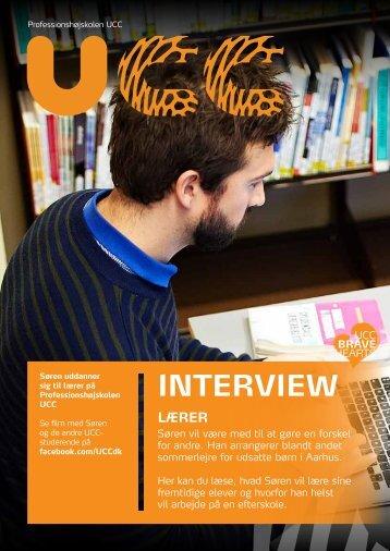 Læs hele interviewet med Søren - Professionshøjskolen UCC