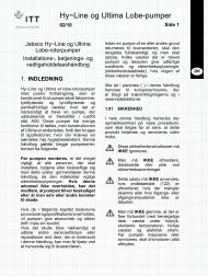 Jabsco Xylem LH-LU installation- og driftvejledning - PFI Flowteknik