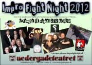 brochure - Impro Fight Night 2012